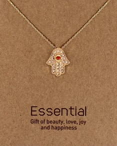 MUST HAVE series: Gold Red Crystal Hamsa