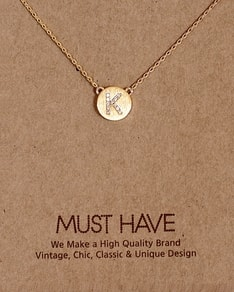 MUST HAVE series: Initial Gold Necklace Letter K