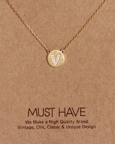 MUST HAVE series: Initial Gold Necklace Letter V