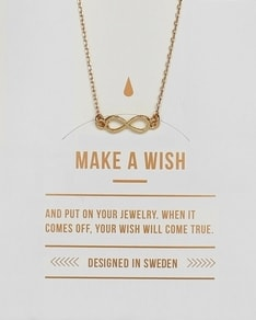 MAKE A WISH series: Gold Infinity Card Necklace