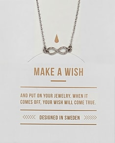 MAKE A WISH series: Silver Infinity Card Necklace