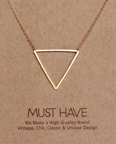 MUST HAVE series: Gold Triangle Pendant