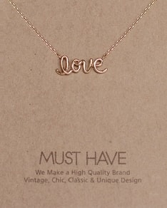 MUST HAVE series: Gold Love Letter Pendant