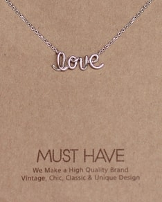 MUST HAVE series: Silver Love Letter Pendant