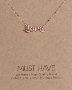 MUST HAVE series: Rose Gold Love Letter Pendant