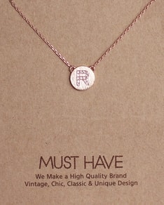 MUST HAVE series: Initial Rose Gold Necklace Letter R