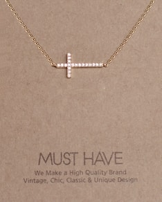 MUST HAVE series: Gold Crystal Cross Pendant