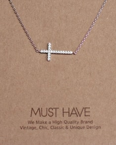 MUST HAVE series: Silver Crystal Cross Pendant