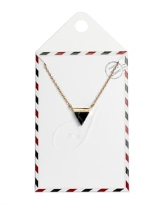 LOVELY LETTER series: Gold Marble Black Triangle