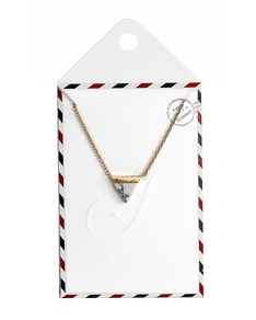 LOVELY LETTER series: Gold Marble White Triangle