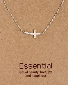 MUST HAVE series: Silver Round Crystal Cross