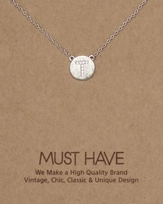 MUST HAVE series: Initial Silver Necklace Letter T