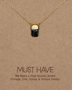 MUST HAVE series: Delicate Gold Black Marble Pendant