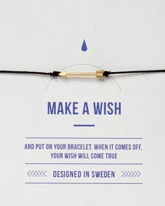 MAKE A WISH series: Black Arrow Gold Silk Bracelet