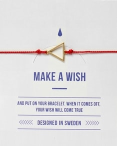 MAKE A WISH series: Red Triangle Gold Silk Bracelet