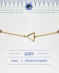 MAKE A WISH series: Gold Triangle Card Bracelet