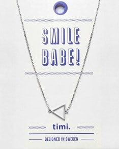 MAKE A WISH series: Silver Triangle Card Necklace