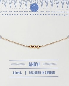 MAKE A WISH series: Gold 3 Ball Card Bracelet