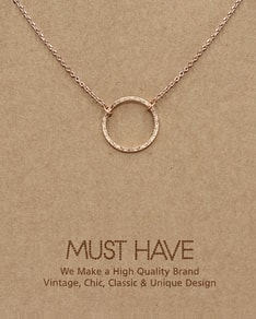 MUST HAVE series: Rose Gold Karma Necklace