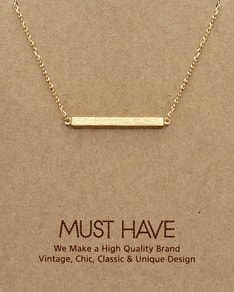MUST HAVE series: Gold Plate Pendant