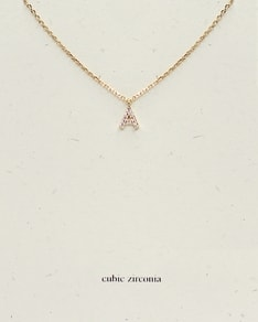 MUST HAVE series: Gold Cubic Zirconia Letter A