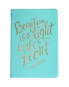 'Beauty Is A Light' Turquoise Journal