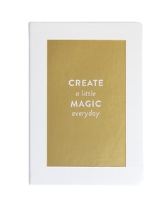 'Gold Magic' White Journal