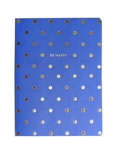 'Be Happy' Blue&Turquoise Journal