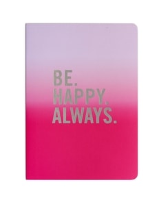 'Be Happy' Pink Journal