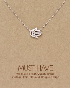 MUST HAVE series: Silver Hamsa Pendant Necklace