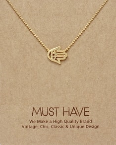 MUST HAVE series: Gold Hamsa Pendant Necklace