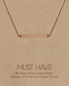 MUST HAVE series: Rose Gold Plate Pendant