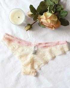 Cream Lace panties Blush BeChick ❤