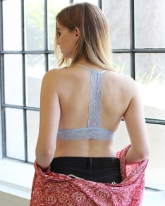 Blue lace bra Back Stripe BeChick ❤