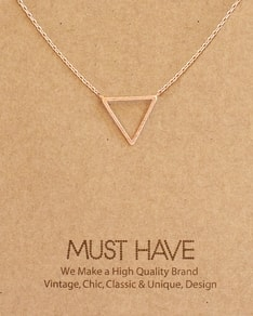 MUST HAVE series: Rose Gold Triangle