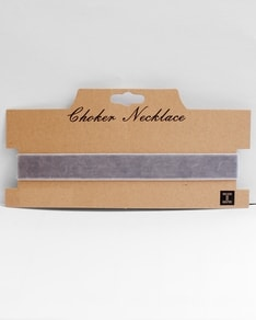 Grey Velvet Choker Vera by New York