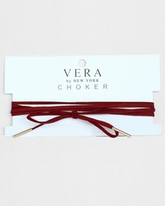 Burgundy Gold Layer Choker Vera by New York
