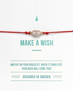 MAKE A WISH series: Red Evil Eye Silk Bracelet
