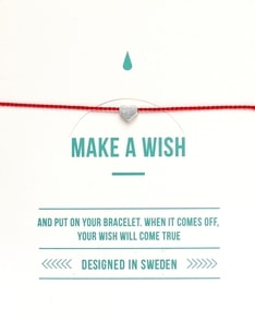 MAKE A WISH series: Red Heart Silver Silk Bracelet