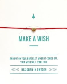 MAKE A WISH series: Red Heart Gold Silk Bracelet