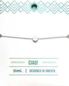 MAKE A WISH series: Silver Hexagon Card Bracelet