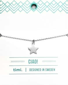 MAKE A WISH series: Silver Star Card Bracelet