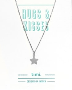MAKE A WISH series: Silver Star Card Necklace