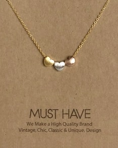 MUST HAVE series: Gold 3 Hearts Pendant