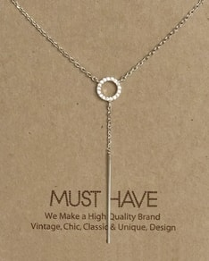 MUST HAVE series: Silver Crystal Spike Pendant