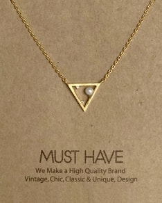 MUST HAVE series: Gold Triangle Pearl