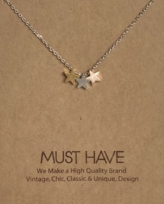 MUST HAVE series: Silver 3 Stars Pendant