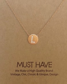 MUST HAVE series: Initial Rose Gold Necklace Letter L