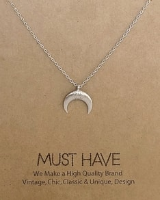 MUST HAVE series: Silver Crescent Moon Pendant