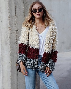 Fluffy cardigan Isabel BeChick ❤